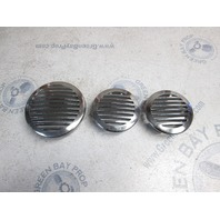 2006 Tahoe Q4 Chrome Boat Rear Stern Vent Covers Set of 3