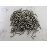 "Lot of 500 6 x 3/4"" Stainless Steel Phillips Oval Head TY A Screws Steam Punk"