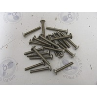 "Lot of 20 1/4-20 x 1-3/4"" Stainless Steel Phillips Head Truss Machine Screws"