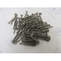 "Marine Fasteners Bx of 85 1/4-20 x 3"" Phil Truss Head SS Machine Screws"