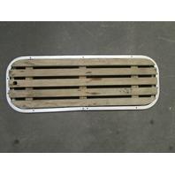 """1987 Rinker Floor Deck Ski Hatch Cover Teak Aluminum Frame 37 1/2"""" x 13 3/8"""""""