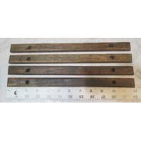 "1987 Rinker V170 Boat Teak Wood Deck Wall Insert Trim Set 12"" x 7/8"""