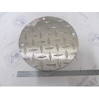 "Marine 7-1/2"" Diameter Round Diamond Plate Fuel Inspection Cover New Style"