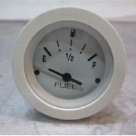 "67150 Boat Fuel Gauge 2"" White Face & Bezel"