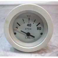 "67180 Boat Oil Pressure Gauge 2"" White Face & Bezel"