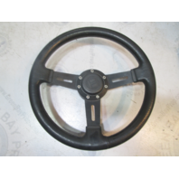 "Teleflex Marine 12.5"" Black Boat Steering Wheel 3 Spokes 3/4"" Shaft"