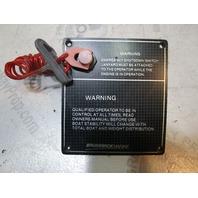 "Marine Boat Dashboard Emergency Shutdown Kill Switch Panel 5"" x 4 1/2"""