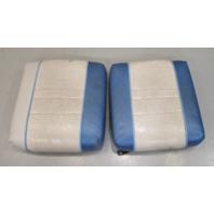 "Interior Rear Jump Seat Butt Cushions 1980's Bayliner Blue Grey 16.75"" x 15.5"""