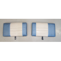 "1980's Bayliner Capri Boat Interior Cushion Set Blue Grey 17 1/2"" x 10"""