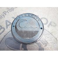 """Celebrity Boat Metal Blue & Chrome 3 5/8"""" Emblem Logo Name Plate"""