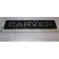 "Carver Yachts Metal Name Plaque Emblem 1980's 17 1/2"" X 3 1/2"""