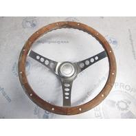 """Celebrity Boat Vintage Teak & Stainless Steel Boat Steering Wheel 13.5"""""""