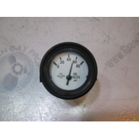 "940557 Marine Boat Oil Pressure 80PSI Gauge 2"" White Face & Black Bezel"