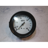"940551 Marine Speedometer 10-60MPH 3 1/4"" Pitot Gauge White Face & Black Bezel"