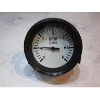 "940548 Marine Boat Tachometer 6000 RPM 3 1/4"" Gauge White Face & Black Bezel"
