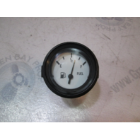 "940553 Marine Boat Fuel Gauge 2"" White Face & Black Bezel"