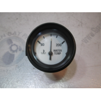 "Marine Boat Water Temperature Gauge 2"" White Face & Black Bezel"