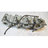 3319-804168T08 T09 T10 Mercury Mariner 90 HP 4 STK Carb Carburetor Set 2000-2006