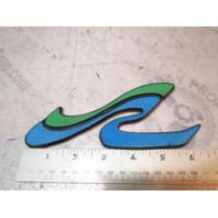 """Sea Ray Logo Emblem Plaque Plastic 6 3/8"""" X 2 1/2"""""""