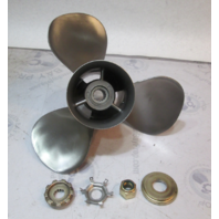 "48-88442A4 Mercury Stainless Propeller 13 3/4"" X 21 P 15 Spline RH ROTATION"