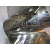 """175738 0175738 OMC Renegade 13 1/2"""" X 25 Pitch 4 Blade Stainless Prop"""