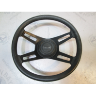 1984 Rinker V180 Boat Steering Wheel 4 Spoke 13.75 Inch dia. Tapered Shaft