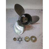 "48-11070A40 Quicksilver Stainless Prop 14.38"" X 21P Mercury V6 & V8 15 Spline RH"
