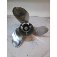 "Yamaha 23-M 3 Blade Stainless Steel Propeller 14 1/2"" X 23 Pitch Prop 150-350HP"