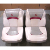 1994 Four Winns 170 Freedom Boat Set Folding Back to Back Seats White,Gray, Red