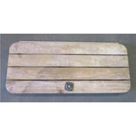 "Teak Wood Boat Floor Deck Ski Hatch Cover 37.5"" x 15.75"""