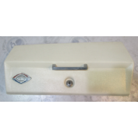Glastron Boat Marine White Glove Box Storage Compartment Dash Cover 16.5 x 8.25