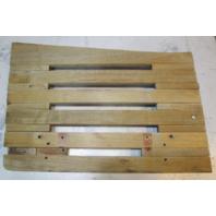 "Vintage Marine Boat Teak Wood Swim Platform Deck 25.75"" x  24"" x 17.5"" x 15.75"""