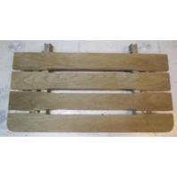 "Vintage Marine Boat Teak Wood Swim Platform Deck 27"" x 13 1/2"""