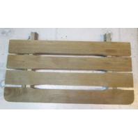 "Vintage Marine Boat Teak Wood Swim Platform Deck 27"" x 13 1/2"" x 7/8"""