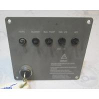"1994 Four Winns 170 Freedom Boat Sterndrive Dashboard Key Switch Panel 6.5"" x 6"""