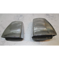 Set of 2 Vintage Chrome Clam Shell Vent Covers From 1979 Galaxy Boat