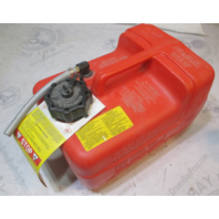 8M0054621 Quicksilver Plastic Red Remote Portable Marine Gas Tank 3 Gallon