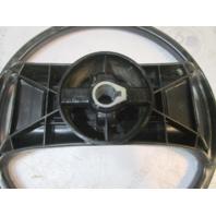 """1989 Forester Phantom 166 Boat Steering Wheel 13.75"""" Black Plastic 3/4"""" Shaft"""