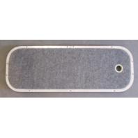 "Grey Boat Floor Deck Ski Hatch Cover & Aluminum Frame 37 1/2"" x 13 1/2"""