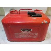Vintage Mercury Marine Boat Outboard Remote Fuel Gas Tank Can Metal 6 Gallon