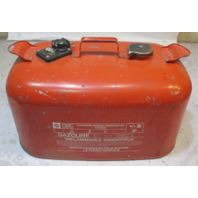 Evinrude Johnson OMC Outboard 6 Gallon Remote Red Metal Gas Tank Fuel Can