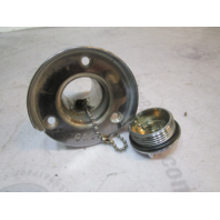Chrome Metal Marine Boat Gas Cap & Filler Tube