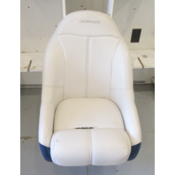 "2000 Crownline 180 White Blue Captains Chair Seat & Pedestal 32.5"" H x 22.5"" W"