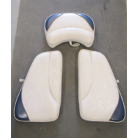 2000 Crownline 180 18' Boat White Blue Grey Bow Seat Cushions Set of 3