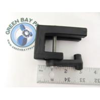 "Pontoon Boat Safety Gate Right Latch w/ SST Insert & Handle 1"" Rail Black"