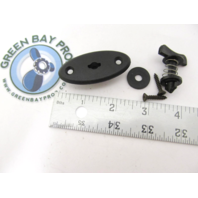 Marine Boat Windshield Wing Nut Fastener with Clip
