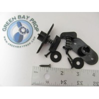 Marine Boat Windshield Wing Nut Twist Lock Fastener with Clip, Pair
