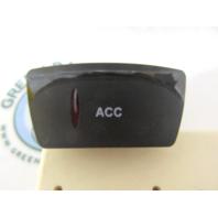 Gill Getter Pontoon Carling 3-Terminal ACC Rocker Switch Black w/ Red Lens 20A 12V