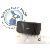 Gill Getter Pontoon ACC Rocker Switch Cover Only Black w/ Red Lens