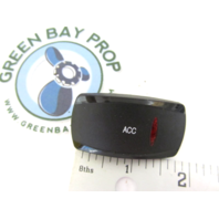 Gill Getter Pontoon ACC Rocker Switch Cover Only Black with Red Lens